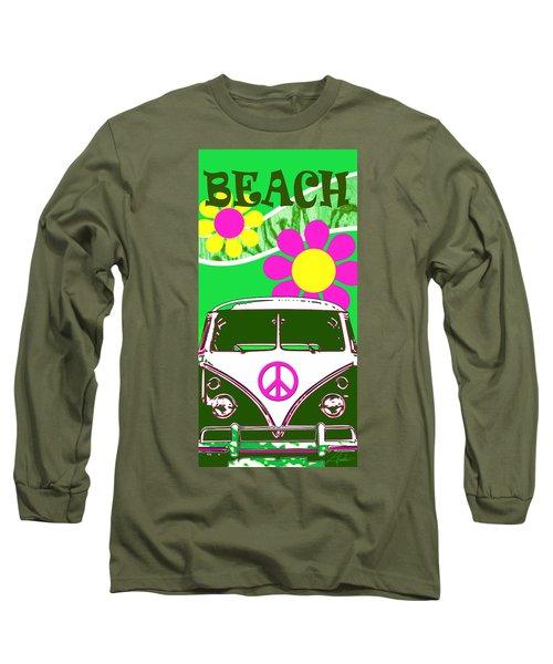 Vw Beach  Green Long Sleeve T-Shirt