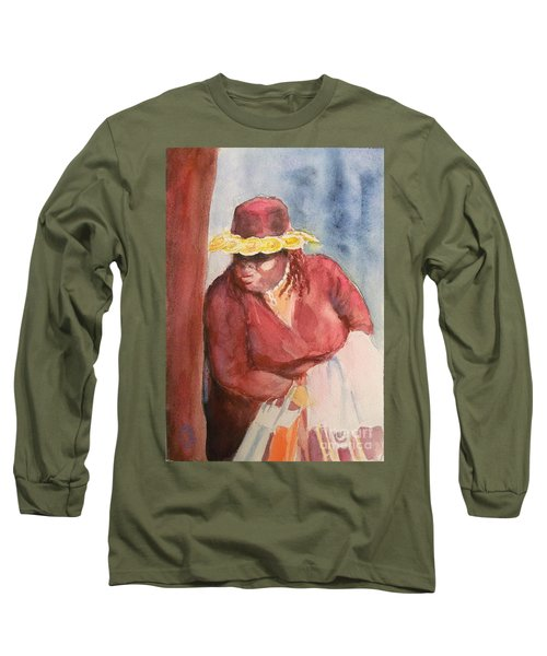 Waiting 1 Long Sleeve T-Shirt by Yoshiko Mishina