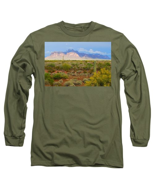 Long Sleeve T-Shirt featuring the photograph 16x20 Canvas - Superstition Mountain Light by Tam Ryan