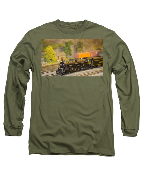 Long Sleeve T-Shirt featuring the photograph Waiting Model Train  by Patrice Zinck