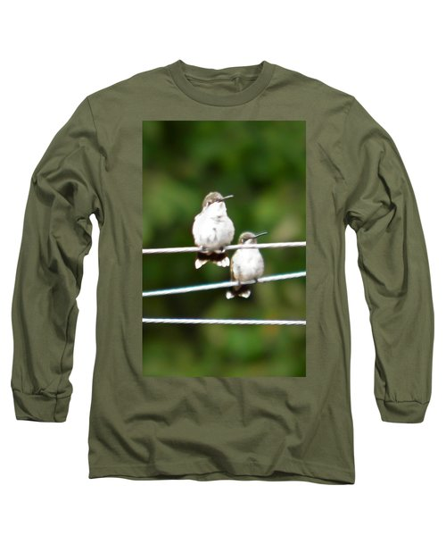 Long Sleeve T-Shirt featuring the photograph Waiting Our Turn by Nick Kirby