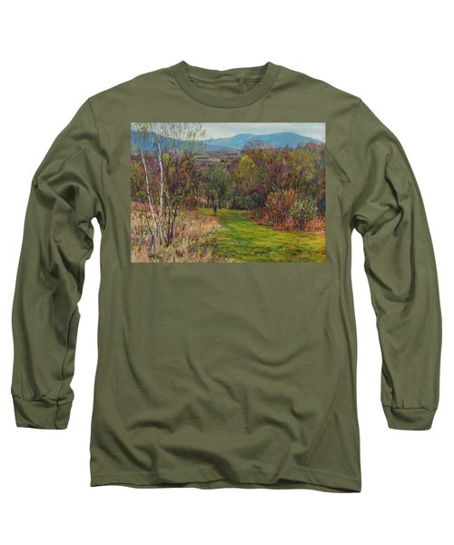 Walking Through The Woods In Spring Long Sleeve T-Shirt