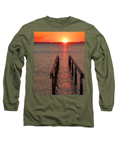 Long Sleeve T-Shirt featuring the photograph Walkway To The Sun by Alan Socolik