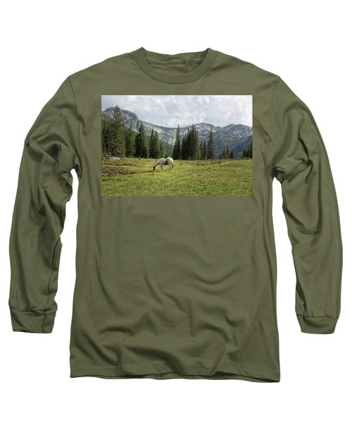 Wallowas - No. 2 Long Sleeve T-Shirt by Belinda Greb