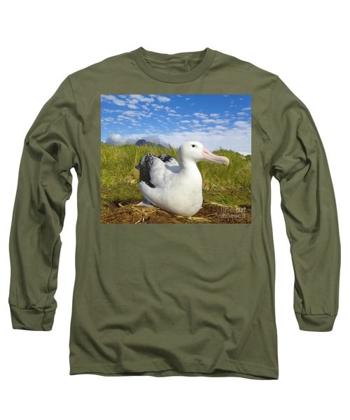 Wandering Albatross Incubating  Long Sleeve T-Shirt