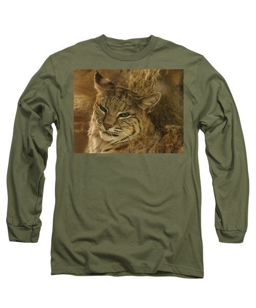 Wary Bobcat Long Sleeve T-Shirt