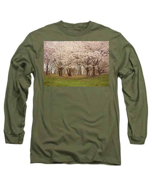 Washington Dc Cherry Blossoms Long Sleeve T-Shirt