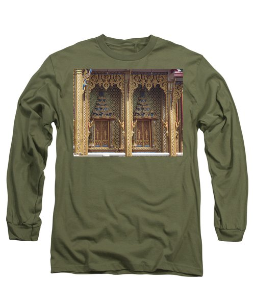 Wat Thung Setthi Ubosot Window Dthb1550 Long Sleeve T-Shirt