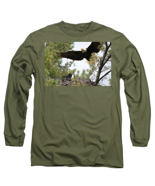 Watch Out Below Long Sleeve T-Shirt by Bonfire Photography