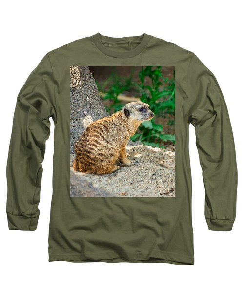 Watchful Meerkat Vertical Long Sleeve T-Shirt