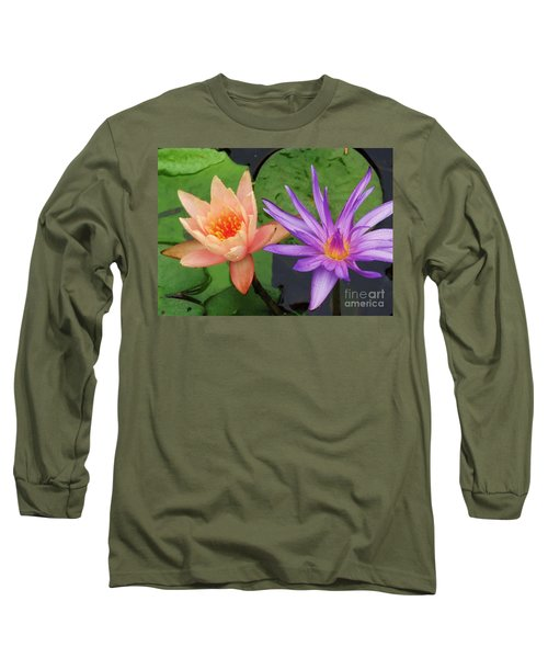 Water Lilies 011 Long Sleeve T-Shirt