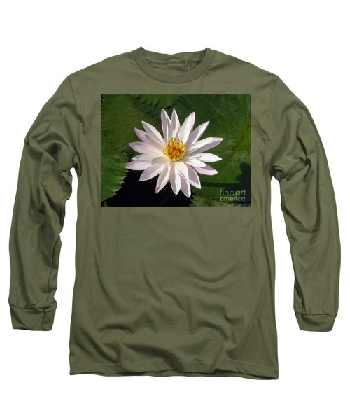 Long Sleeve T-Shirt featuring the photograph Water Lily by Sergey Lukashin