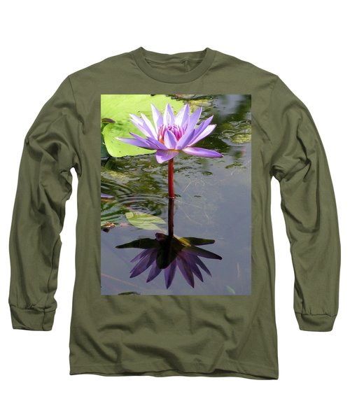 Water Lily - Shaded Long Sleeve T-Shirt