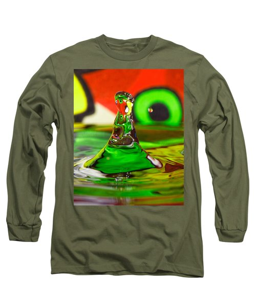 Long Sleeve T-Shirt featuring the photograph Water Mountain by Peter Lakomy