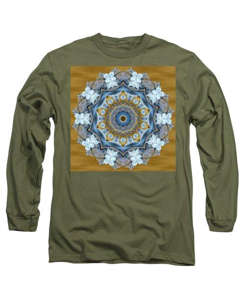Water Patterns Kaleidoscope Long Sleeve T-Shirt