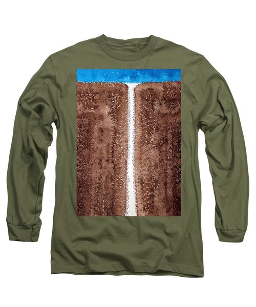Waterfall Original Painting Long Sleeve T-Shirt