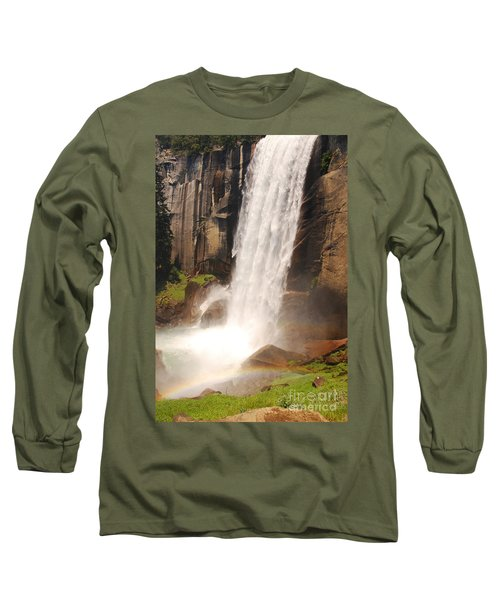Long Sleeve T-Shirt featuring the photograph Waterfall Rainbow by Mary Carol Story
