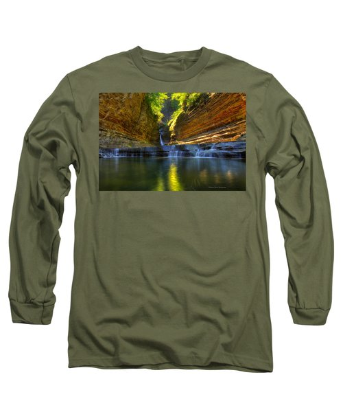 Waterfalls At Watkins Glen State Park Long Sleeve T-Shirt