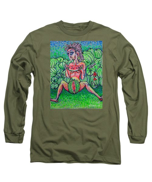 Watermelon Sale/sketch/ Long Sleeve T-Shirt by Viktor Lazarev