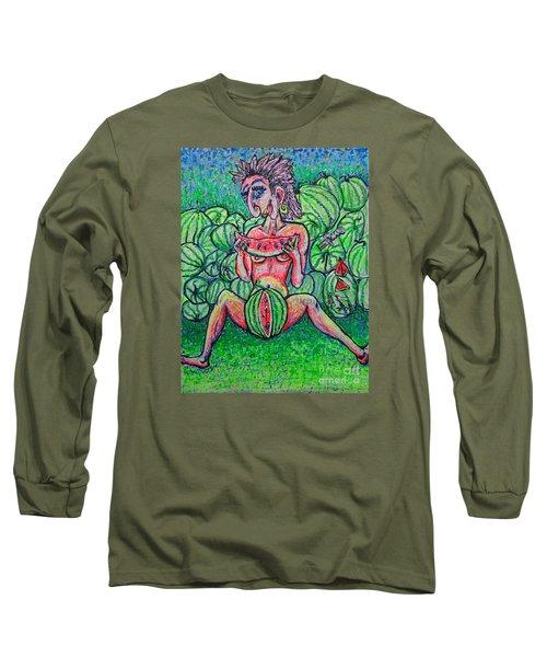 Watermelon Sale/sketch/ Long Sleeve T-Shirt