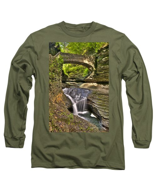 Watkins Glen Waterfalls Long Sleeve T-Shirt