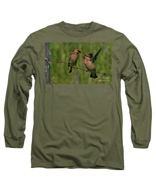 Waxwing Love.. Long Sleeve T-Shirt