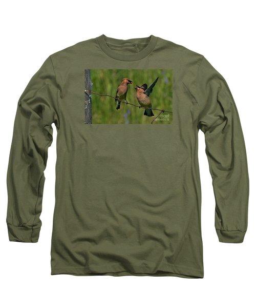 Waxwing Love.. Long Sleeve T-Shirt