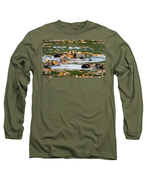We Otter Be In Pictures Long Sleeve T-Shirt by Bob Hislop