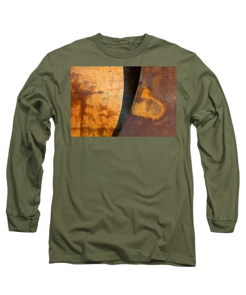 Weathered Bronze Abstract Long Sleeve T-Shirt
