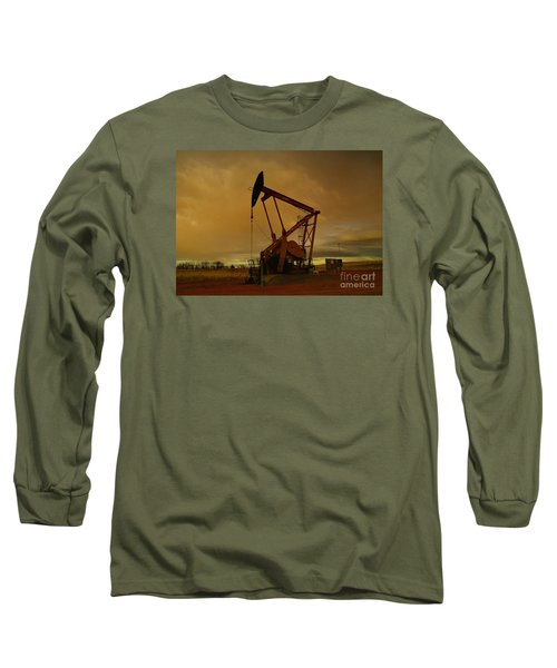 Wellhead At Dusk Long Sleeve T-Shirt