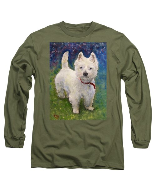 West Highland Terrier Holly Long Sleeve T-Shirt by Richard James Digance