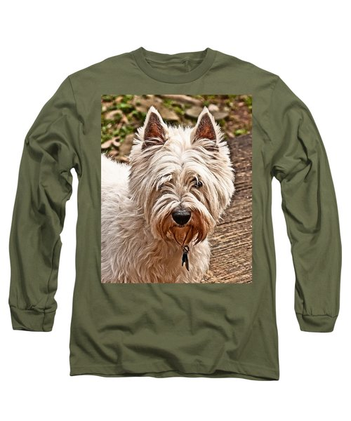Long Sleeve T-Shirt featuring the photograph West Highland White Terrier by Robert L Jackson