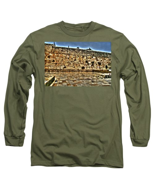 Long Sleeve T-Shirt featuring the photograph Western Wall In Israel by Doc Braham