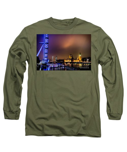 Westminster And Eye Night Glow Long Sleeve T-Shirt