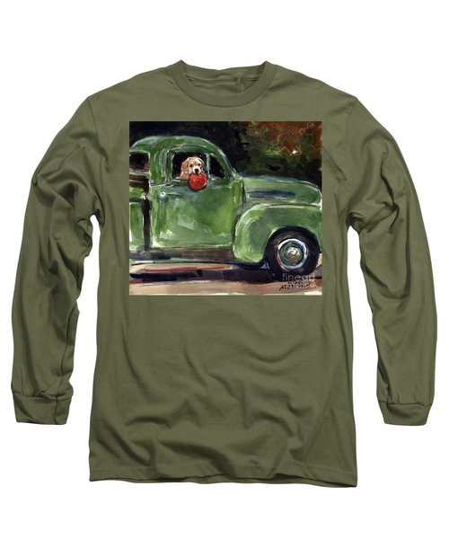 Long Sleeve T-Shirt featuring the painting Wham-o by Molly Poole