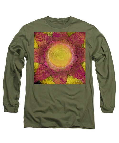Long Sleeve T-Shirt featuring the digital art What Kind Of Sun Iv by Carol Jacobs