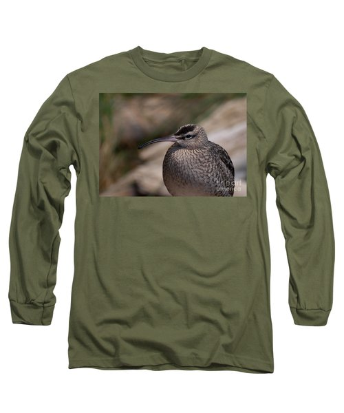 Long Sleeve T-Shirt featuring the photograph Whimbrel by Bianca Nadeau