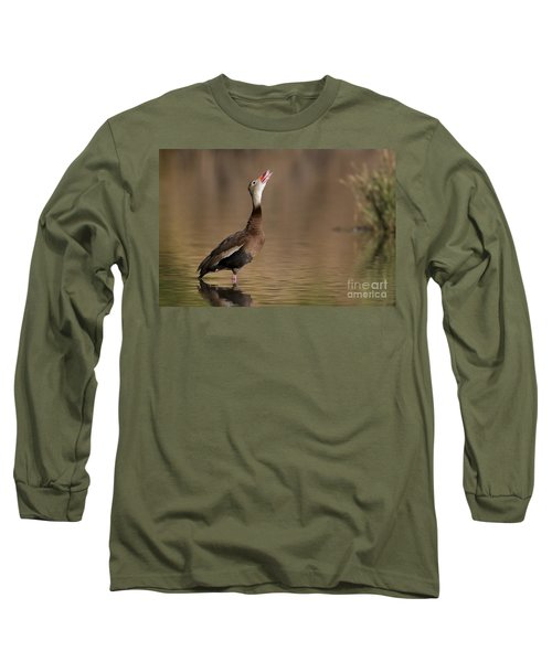 Whistling Duck Whistling Long Sleeve T-Shirt by Bryan Keil