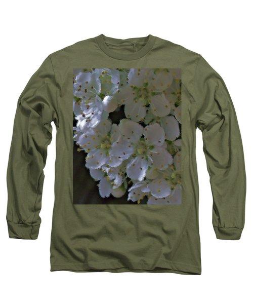 White Blooms Long Sleeve T-Shirt