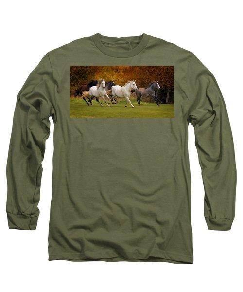 White Horse Vale Lipizzans Long Sleeve T-Shirt