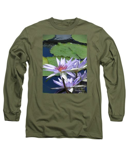 Long Sleeve T-Shirt featuring the photograph White Lilies by Chrisann Ellis