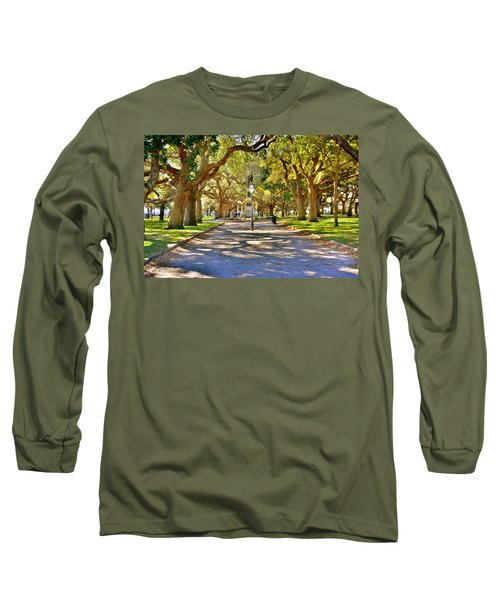 White Point Gardens At Battery Park Charleston Sc Hdr Long Sleeve T-Shirt