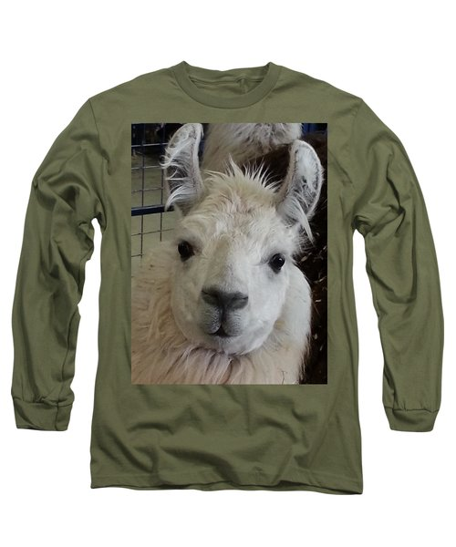Long Sleeve T-Shirt featuring the photograph Who Me Llama by Caryl J Bohn
