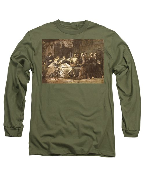 Wicliffe On His Death Bed Assailed Long Sleeve T-Shirt