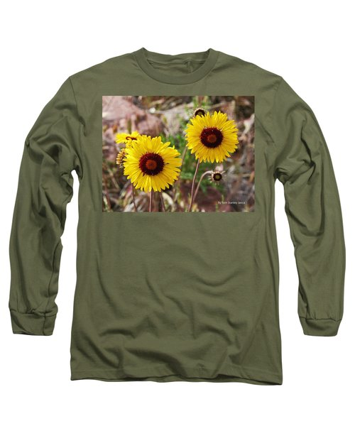 Wild Flowers Above The Rim Long Sleeve T-Shirt by Tom Janca