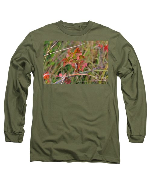 Long Sleeve T-Shirt featuring the photograph Wild Gooseberry Leaves by Ann E Robson