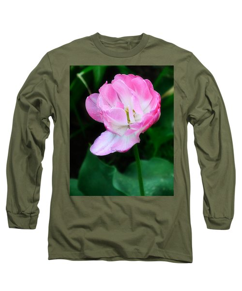 Wild Pink Rose Long Sleeve T-Shirt