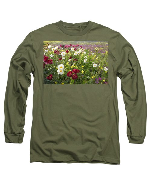 Wild Poppies South Texas Long Sleeve T-Shirt by Susan Rovira
