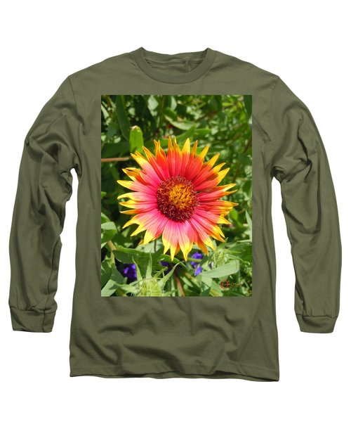 Long Sleeve T-Shirt featuring the photograph Wild Red Daisy #3 by Robert ONeil