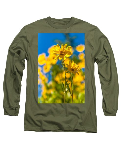 Wildflowers Standing Out Long Sleeve T-Shirt by Chad Dutson